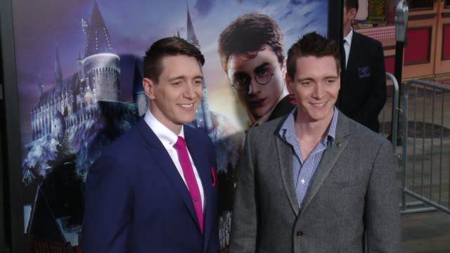 social media edit the wizarding world of harry potter vip press event at universal studios hollywood on april 05 2016 in universal city california - oliver phelps stock videos & royalty-free footage