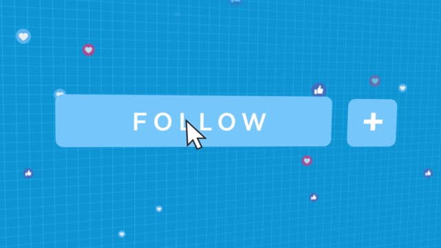 social media follow button mouse pointer - mouse pointer stock videos & royalty-free footage
