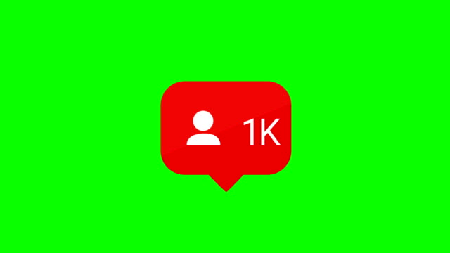 social media follow icon. increasing follow. animation 1000 1k follow icon. chroma key. alpha matte channel. - following stock videos & royalty-free footage