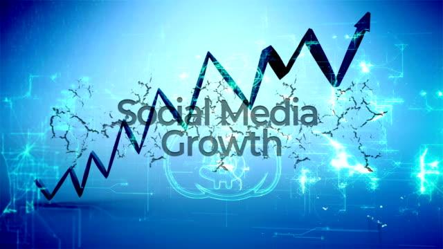 ソーシャルメディアの成長 - 発光ダイオード点の映像素材/bロール