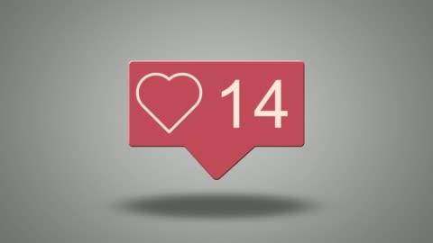 sociala medier hjärta räknare - följa rörlig aktivitet bildbanksvideor och videomaterial från bakom kulisserna