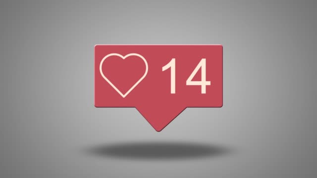 social media heart counter - following stock videos & royalty-free footage
