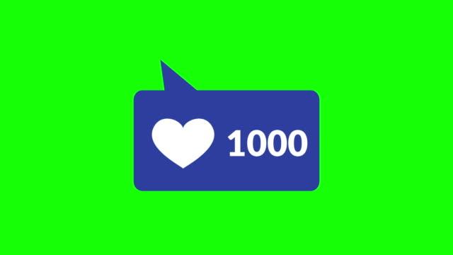 vidéos et rushes de compteur de coeur de médias sociaux - impact