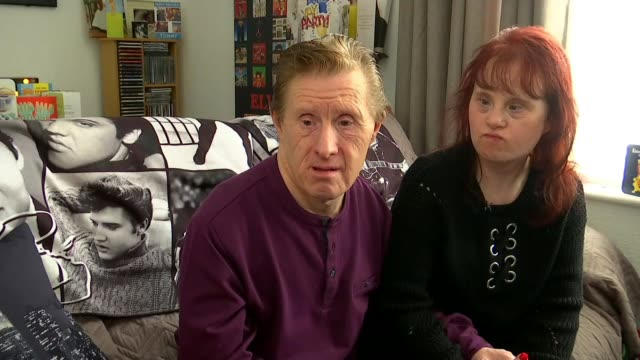 Social media helps Down's Syndrome couple celebrate husband Tommy Pilling's 61st birthday ENGLAND INT Tommy Pilling and Maryanne Pilling interview SOT