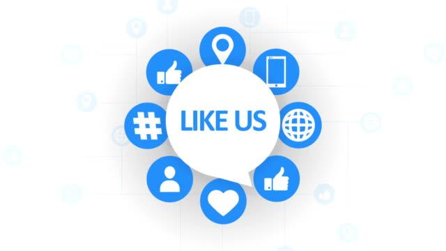 social media icons, like speech bubble - speech bubble stock videos & royalty-free footage