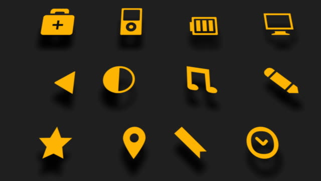 social media icons set - collection stock videos and b-roll footage