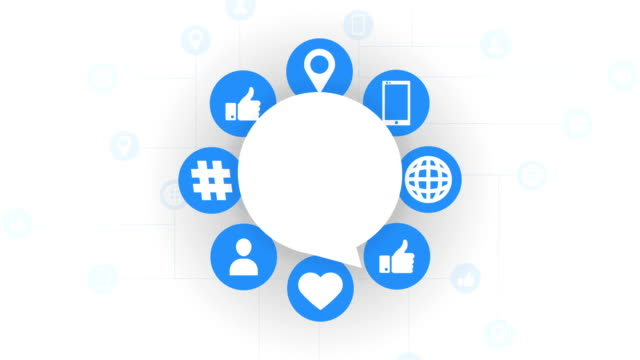 social media icons, speech bubble - following stock videos & royalty-free footage