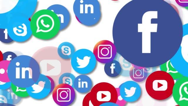 vídeos y material grabado en eventos de stock de iconos de 4k redes sociales - composición fílmica