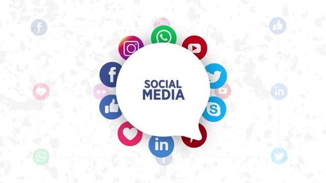 social media icons,speech bubble - social media icon stock videos & royalty-free footage