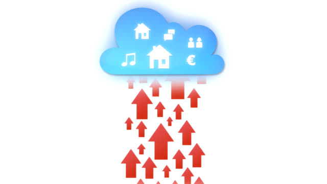 social media in the cloud - storage compartment stock videos and b-roll footage