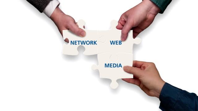 Social Media Jigsaw (alpha matte included)