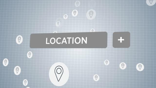 vídeos de stock e filmes b-roll de social media location button - agenda de telefones