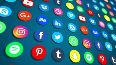 sociala medier nätverk bakgrund-4k loopable - app bildbanksvideor och videomaterial från bakom kulisserna