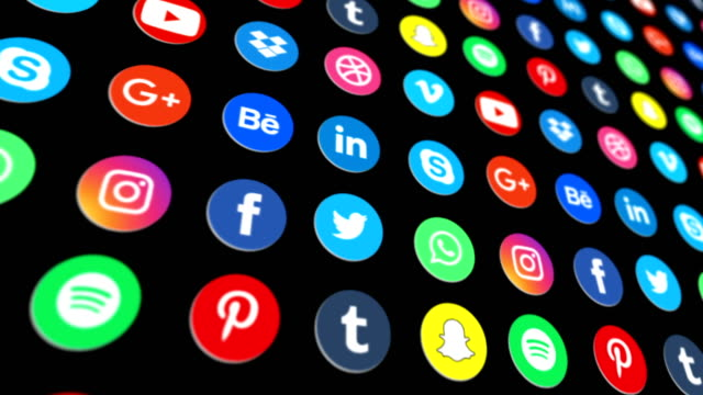 social media network background - 4k loopable - image stock videos & royalty-free footage