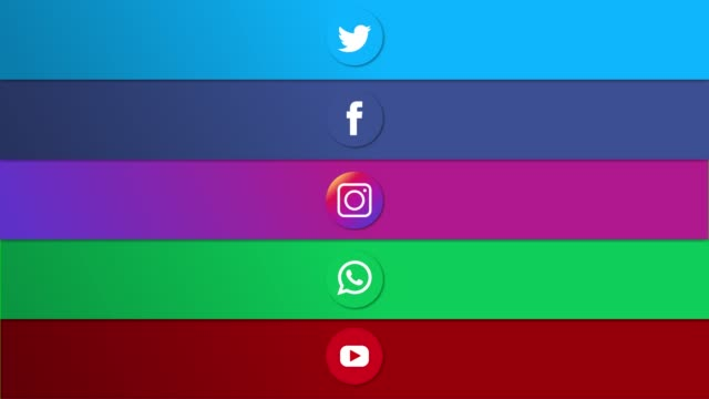 animazione piattaforme di social media (schermo verde) - video collage video stock e b–roll