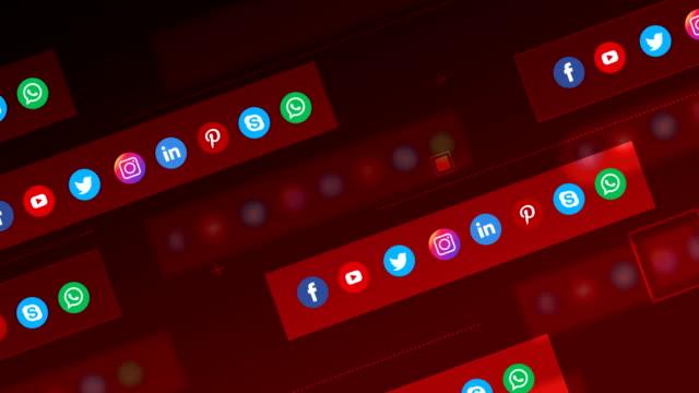 4k sociala medier, sociala nätverk, geometrisk bakgrund (loopable) - följa rörlig aktivitet bildbanksvideor och videomaterial från bakom kulisserna