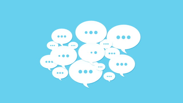 social media speech bubbles - form of communication stock videos & royalty-free footage