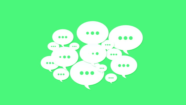 social media speech bubbles - q and a stock videos & royalty-free footage