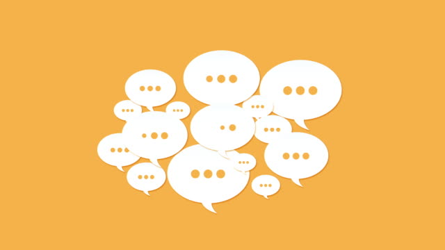social media speech bubbles - speech bubble stock videos & royalty-free footage