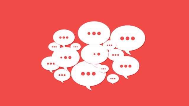 vidéos et rushes de médias sociaux discours bulles - symbole