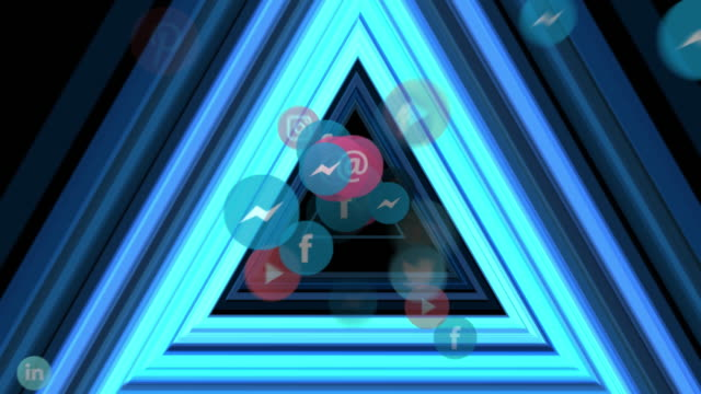 social media triangle tunnel - man and machine stock videos & royalty-free footage