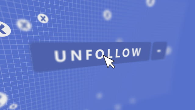 social media unfollow button mouse pointer - mouse pointer stock videos & royalty-free footage