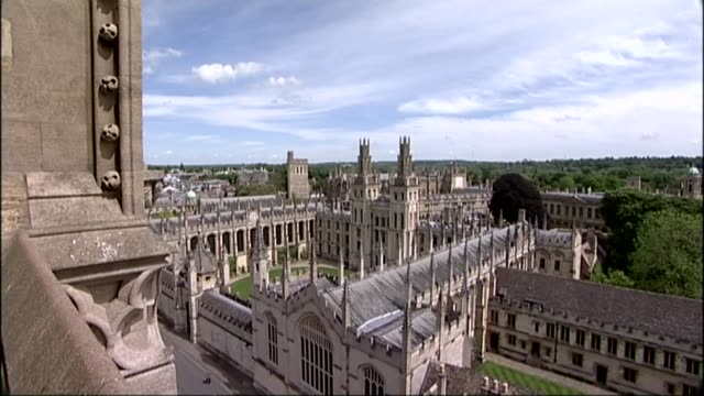 social mobility and child poverty commission condem oxbridge colleges for elitism r21051421 / oxford ext high angle shot oxford university buildings... - oxford oxfordshire stock videos & royalty-free footage