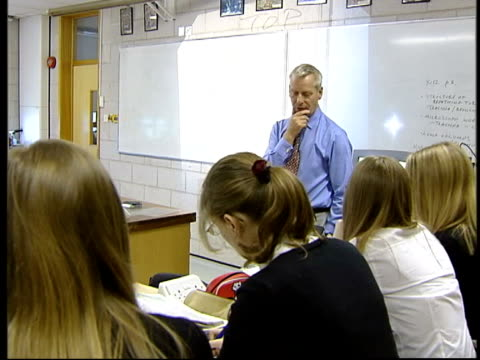 social mobility report gloucestershire cheltenham pate's grammar school int la gvs pupils along school corridor ext la gv legs of pupils along on... - the earth: a film lesson in general science stock videos & royalty-free footage