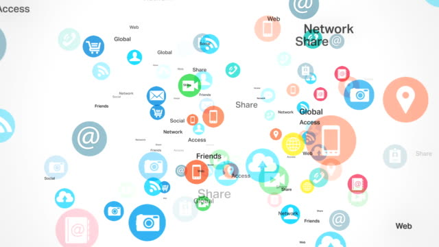 Social network and Media - White BG