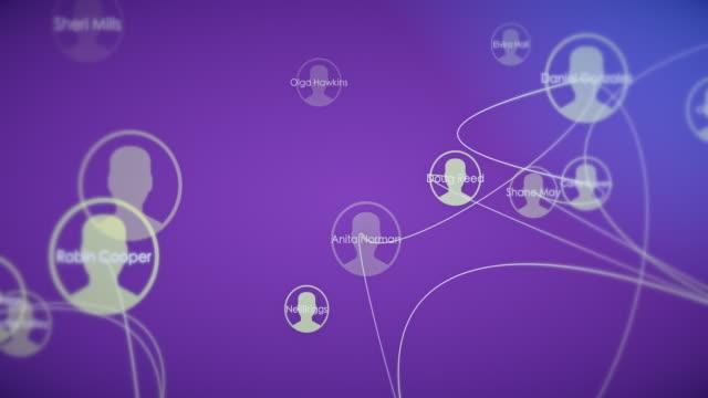 vídeos de stock e filmes b-roll de social network connection backgrounds - empregado