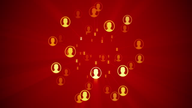 vídeos de stock e filmes b-roll de social network connection concept - empregado