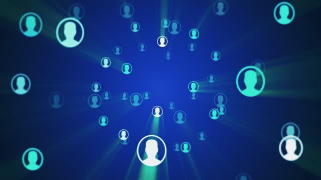 vídeos de stock, filmes e b-roll de conceito de conexão de rede social - funcionário