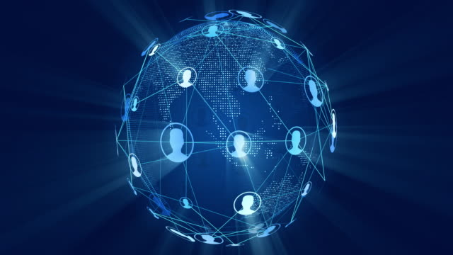 social network connection world globe - recruitment stock videos & royalty-free footage