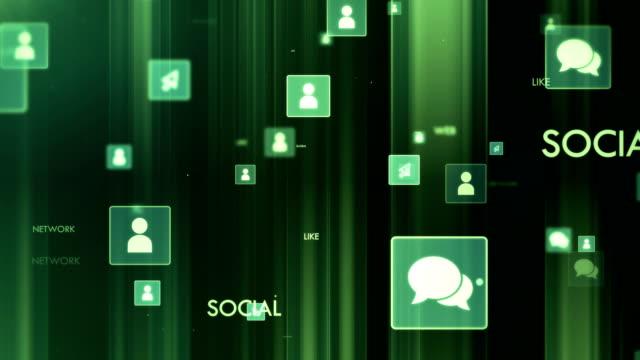 4 k sociala nätverk - loopable - följa rörlig aktivitet bildbanksvideor och videomaterial från bakom kulisserna
