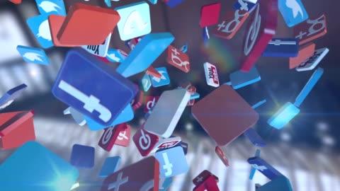 social network media marketing - app bildbanksvideor och videomaterial från bakom kulisserna