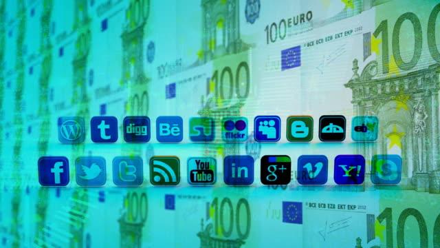 ソーシャルネットワーク、ソーシャルメディア、マーケティング、インターネットの概念。 - マルチメディア点の映像素材/bロール