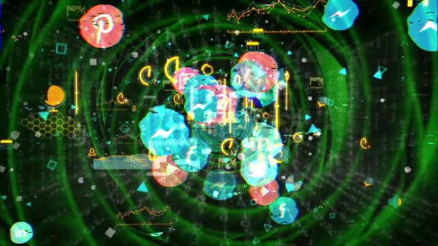 vídeos y material grabado en eventos de stock de redes sociales, marketing en redes sociales, túnel de datos - loading