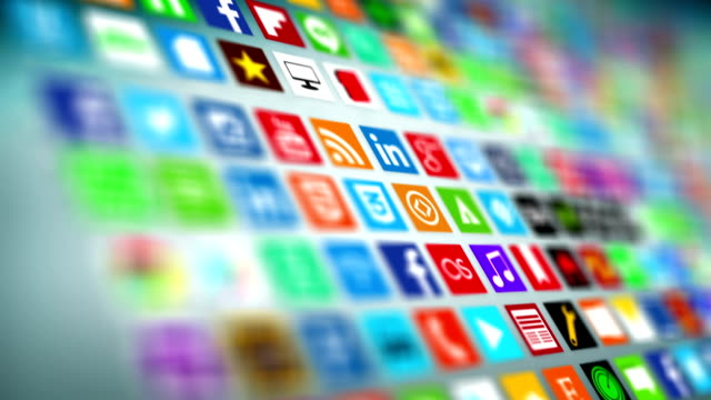 social network, social media, marketing. - mobile app stock videos & royalty-free footage