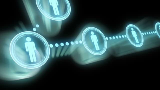 stockvideo's en b-roll-footage met social network - aan elkaar bevestigd