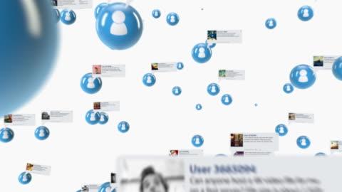 stockvideo's en b-roll-footage met social network white - social media