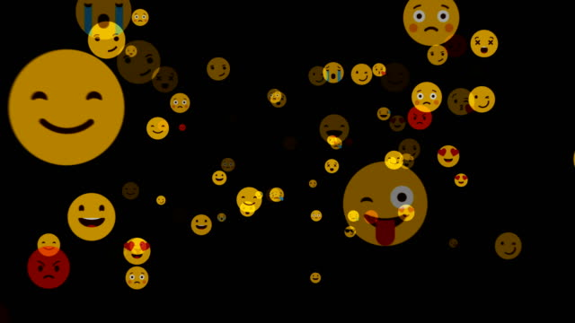 social networking and emoji smile - alpha channel - emoticon stock videos and b-roll footage