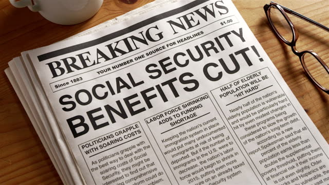 social security benefits cut - social security stock videos & royalty-free footage