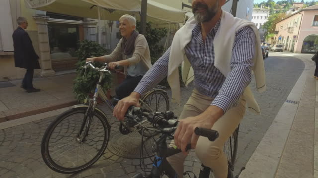 Social Seniors Mature Couple at city