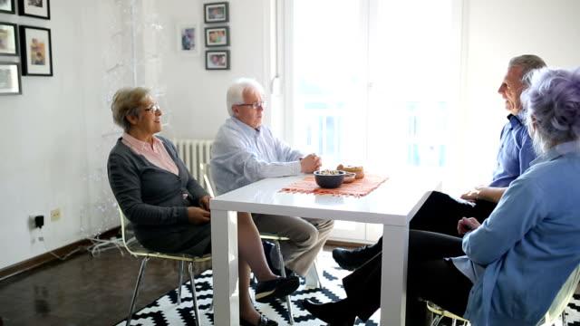 social seniors - social gathering stock videos & royalty-free footage
