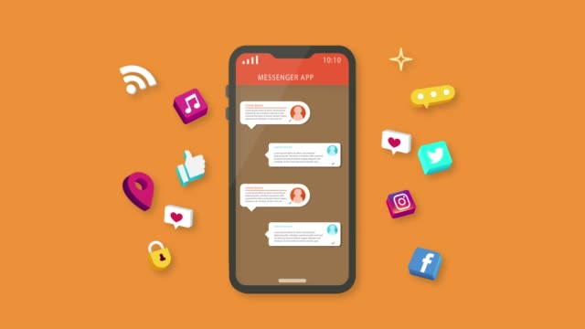 social talk animation - orange background stock videos & royalty-free footage