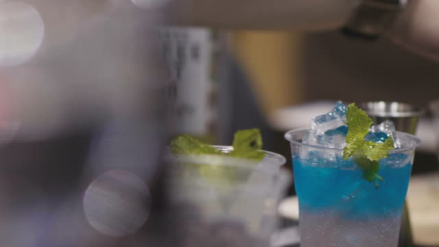 soda blue drink - margaritas stock videos and b-roll footage