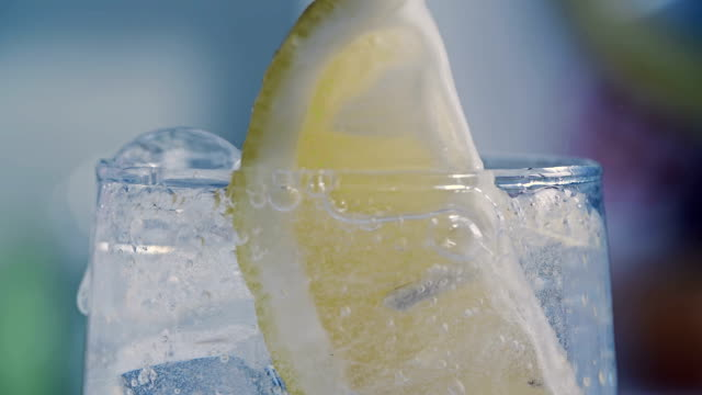 Soda Water with Lemon