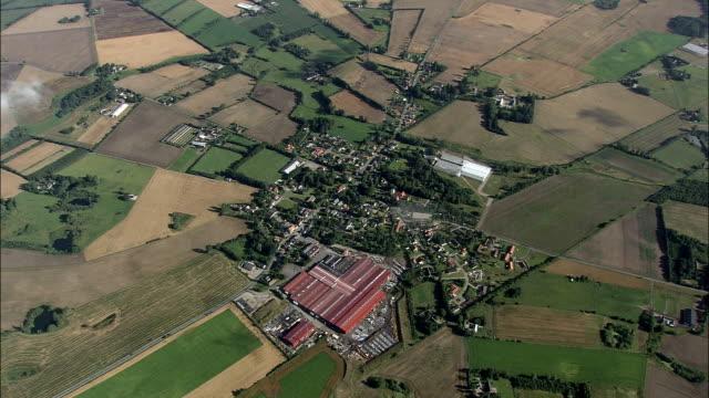 soendersoe - aerial view - south denmark, fredericia kommune, denmark - overhead projector stock videos & royalty-free footage