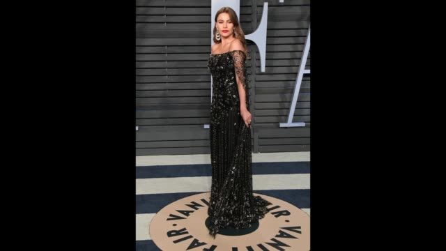 Sofía Vergara attends the 2018 Vanity Fair Oscar Party hosted By Radhika Jones at the Wallis Annenberg Center for the Performing Arts on March 4 2018...