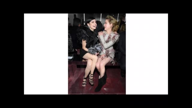 stockvideo's en b-roll-footage met sofia carson and amber heard attend the giambattista valli show as part of the paris fashion week womenswear fall/winter 2019/2020 on march 04 2019... - dameskleding